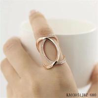 Brand open women's ring.Wholesale/Retail 18 KGP (white) rose gold & full drill & average size opening ring.Free shipping + gift.