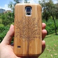 Hot Selling Wooden Case Cover For Samsung Galaxy S5 SV i9600 Environment Bamboo Wood Case for Galaxy S5