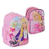 Barbie cartoon children books student orthopedic 3D school bag  backpack/rucksack for  girls   grade/class 1-3 2014 new