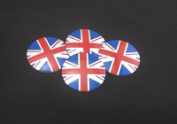Wholesale New A Set Of 4pcs 56mm CAR Auto Tyre Wheel Center Hub Cap Hubcap Stickers Emblems Badge Decal Britain England Flag