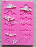 Design 222  Mini Lace  Sugar Lace Mold,  Silicone 3D Cake Fondant  Mold, Cake Decoration Tool, Food Grade Material