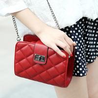 Free shipping ! New Fashion Women lady girl messenger bag Rhombus vintage shoulder bag square handbag good quality
