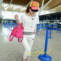 2014 summer new brand cotton sportswear women's sport suit tracksuits 3 pcs Sweater + pant + vest