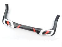 Full Carbon Fiber Road Bicycle TT Handlebar TT Style triathlon Time trial sports Bike Handlebar 400/420/440mm Yellow