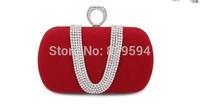 2014 new women clutch evening dinner banquet bag diamond ring finger bag clutch bag