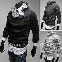 Free Shipping High collar coat 2014 arrival top brand men's jackets,men's dust coat,men'soutwear Color:4 Colors Size:M-XXXL