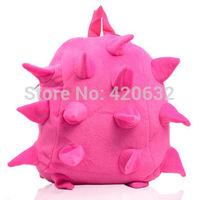 2014 new children's stuffed hedgehog bag backpack bag child schoolbag