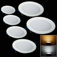 5pcs/1lot  7w/9W/12W/15W/18W/24W led panel lighting ceiling light   AC85-265V , ,Warm /Cool white,indoor lighting