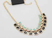 COL147 2014 New Brand Gold Geometric shorts choker Necklaces women Collier max Colares bijuterias