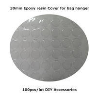 100pcs/lot Epoxy resin Cover For Bag Hanger Purse Hook DIY Accessories