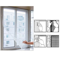 Door & Window Flyscreen Wire Net Fly Bug Mosquito Mesh Screen Curtain White Drop Shipping