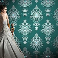 Non-woven wallpaper diamond Continental Damascus bedroom, living room TV backdrop 3d wallpaper / p174