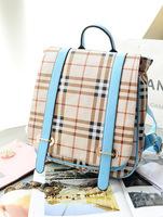 Hot selling 2014 new fashion bag! Free shipping high-quality British retro plaid backpack, traveling bags, leisure bags B081