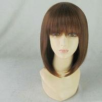 Hirasawa Yui 35cm Brown Short Straight Synthetic Cosplay Costume Wig.Real Hair