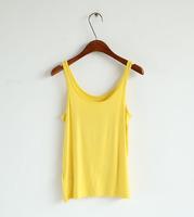 2pcs/lot Free Shipping Summer hot-selling woven cotton rib knitting women's tank Tops long design best quality