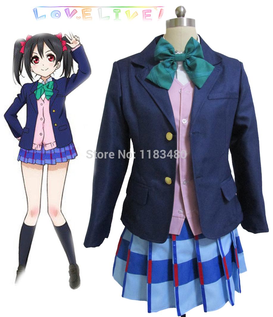 Grátis frete amor ao vivo Yazawa Niko Otonokizaka academia da menina trajes Cosplay uniforme escolar dramatização roupas dos desenhos animados(China (Mainland))