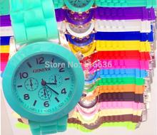 New Mini Geneva Watch Women SMALL wristwatch Golden Silicone casual dress watch Girl Fashion WOMAN Watch