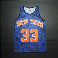 New York 1991 INC Rose Men's Tank Tops Sleeveless EWING Vest T Shirt Christ Casual Sport Jersey Tank 33 basketball tee