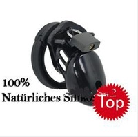 2014 NEW Hot sale! Black  Adult Sex Toys penis male chastity belt lock cage