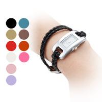 Free shipping Genuine Leather strap Vintage charm bracelets for women adjustable band Pendant ladies bracelet watches wholesale