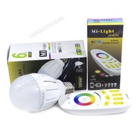 AC 85-265V E27 6W Dimmable RGB LED Bulb Full Color Light w/ 2.4G Touch Control Wireless Remote