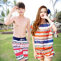 Lovers swimwear lovers beach swimwear small push up steel hot spring swimwear