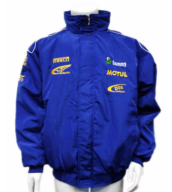 Vestuário F1 SUBARU automóvel carro de corrida de longa manga outerwear de algodão acolchoado jaqueta bordado rj 004 w(China (Mainland))