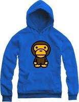 Hot New 2014 Men Hoodies Bape Cute Bear Hoodie Big Size Sweatshirt Bape Hoodies Free Shipping