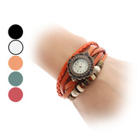 In 2014 the new fashion Women dress watches, Quartz Analog Sunflower Style Case Leather Band Bracelet Watch (Assorted Colors)