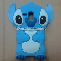 Hot Sale Stitch 3D Cartoon Silicon Cover Case for Samsung Galaxy S3 Mini i8190 Cute Animal Soft Silicon Shell