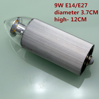 DHL 20PCS Cree 5730 high-power highlighted without flash Candle Light LED Bulb E14/E27 screw 4.5W 9W