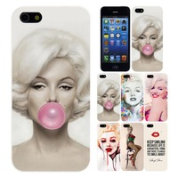 Stylish Marilyn Monroe Bubble Gum Hard cover Case For iPhone 4 4S 4G 5 5G 5S Protective Back Cover