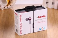 2014 New arrival ubeats high performance in-ear headphones for ipod/iphone/ipad  free shipping by air post
