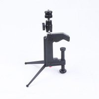 free shipping + tracking number Portable Table Desk Mini Camera Mounting Clamp Tripod for Camera Camcorder MAX 5KG DSLR