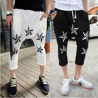 Hot Sell  sport fashion cotton print drop crotch pants mens harem pants casual bandana trousers sweatpants