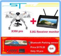 2014 New WALKERA QR X350 Pro GPS Drone 6CH Brushless motor DEVO 10 FPV 7ch Dual 5.8G monitor 32 frequency receiver RC Qu boy toy
