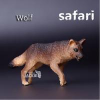 Free shipping Safari (Genuine bulk) Wolf 9.5*6cm Animal model simulation solid educational Toy for children