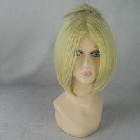 Annie Leonheart Light Gold Culy Short Medium Styled Cosplay Anime Wig.Cos Wig