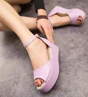 2014 spring and summer platform sandals female shoes platform wedges sandals open toe shoe comfortable sandles free shipping