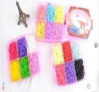 10sets new 2014 Three layer loom kit box Loom rubber bands Kit knitting machines Children fun loom