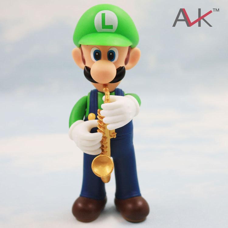 Super Mario Dx PVC Figure - Part 7 - Luigi with Saxophone(China (Mainland))