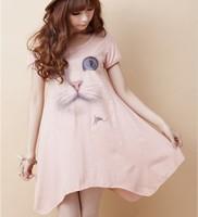 2014 new Free Cute hot sale Maternity dress expansion bottom cartoon T-shirt short-sleeve dresses clothes