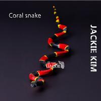 Free shipping Safari (Genuine bulk) Milk snake coral Snake Animal model simulation solid educational Toy for children