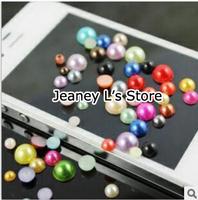 3000pcs Mixed Color Size Pearl Beads Nail Art Tips Decoration Phone Case Scrapbook DIY 2 3 4mm