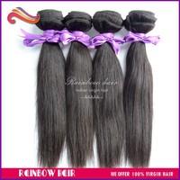 Retail 1pcs lot hair natural straight Top Grade hair extension hair weave
