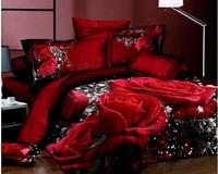 Fashion classic brand 3D Bedding 4pcs pure cotton satin bedding set /comforter set/ duvet cover set/ bed sheet