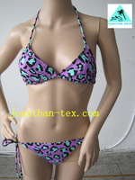 hot selling beautiful print sexy ladies bikini swimwear(buy more than 5 sets,present swimming cap)