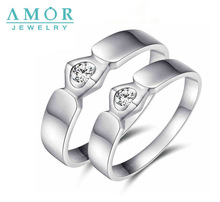 AMOR  WITNESS OF  LOVE SERIES NATURAL DIAMOND 18K WHITE  GOLD LOVERS RING JBFZSJZ013