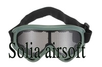 Tactical Airsoft  Eyes Protection Glass Metal Mesh Pinhole Goggle Glasses army green