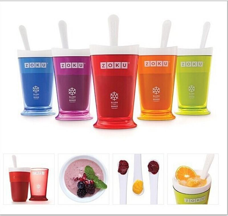 Hot 2014 new Zoku fruit juice smoothie cup DIY milkshake cup ice cream machine fruit smoothie cup, free shipping(China (Mainland))